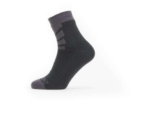 imágenes detalladas la mejor moda bebé Sealskinz Waterproof Warm Weather Calcetines de tobillo, black/grey